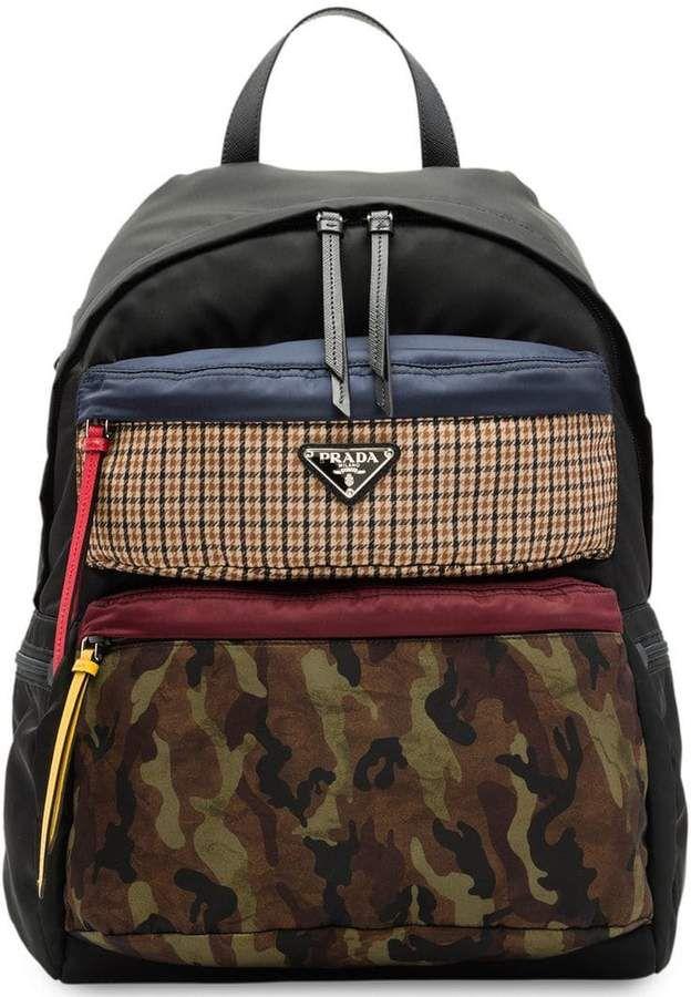 c3bb349da8af Prada printed technical fabric backpack