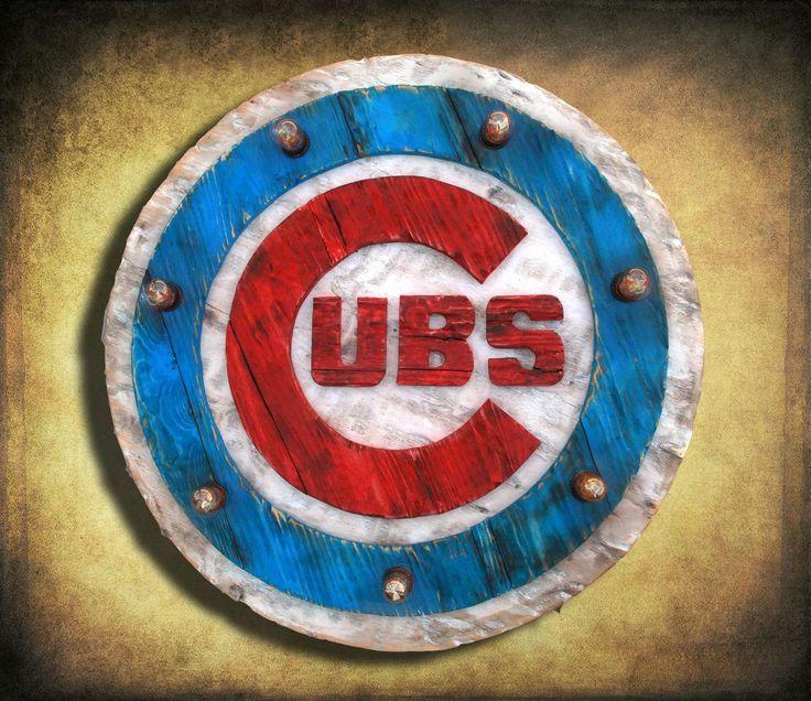 Chicago cubs baseball lightup sign handmade distressed
