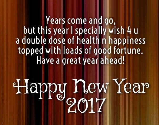 new year greeting for love ones 2017