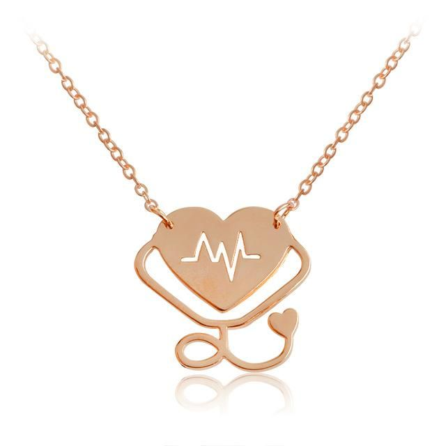 """Details about  /14k Gold Heart Shape Necklace Pendant with 18/"""" Chain"""