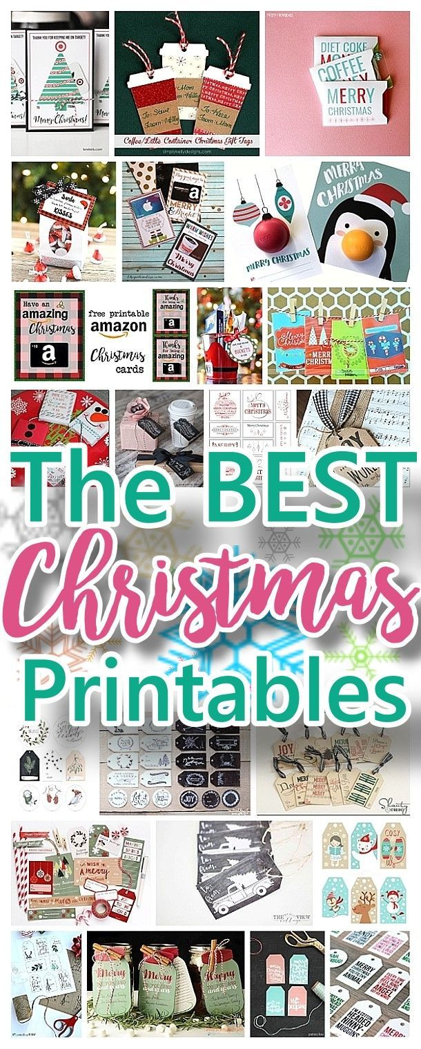 The BEST Christmas and Holiday FREE Printables - Gift Tags - Gift Card Holders - Christmas Greeting Cards and more FREE Downloadable Printables for the Holiday Seasons | Dreaming in DIY