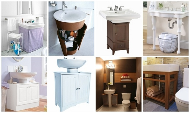 wrap around cabinet for pedestal sink 3