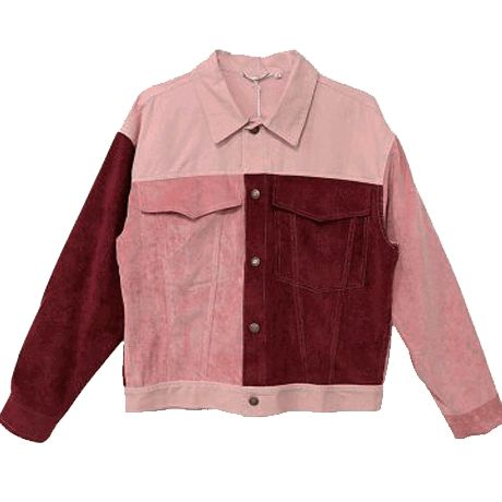 itGirl Shop PATCH COLORED PINKY RED DENIM JACKET Aesthetic Apparel, Tumblr Cloth…