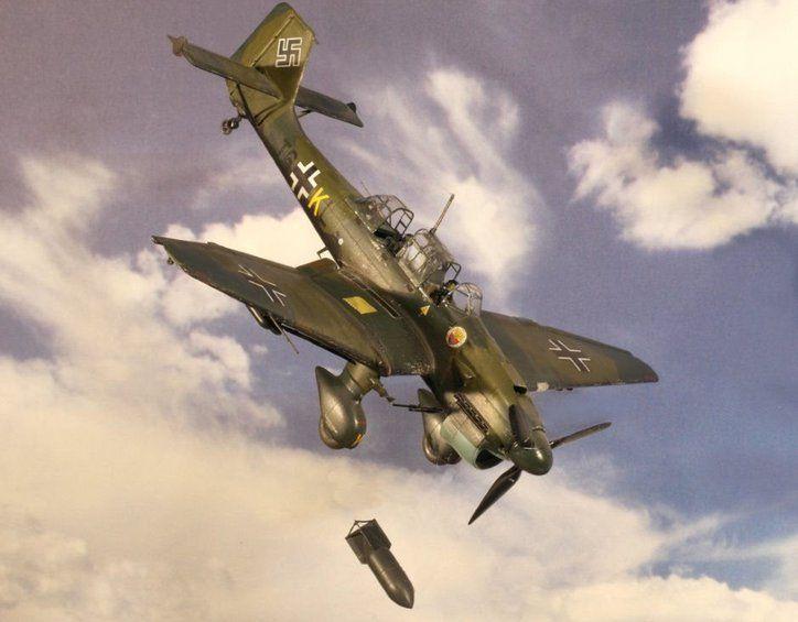 Aviao JU-87 STUKA B-2/R-2 - ITALERI » Kits - Avioes Civis