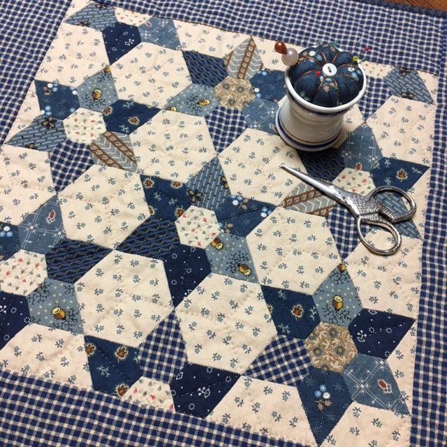 Jewels made into stars, small quilt inspired by an antique doll quilt I saw on Pinterest. Enjoy!