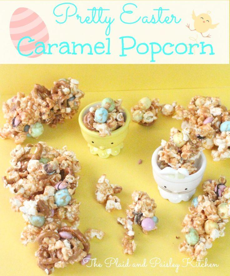 Pretty Easter Caramel Popcorn | Recipe | Popcorn, Caramel ...