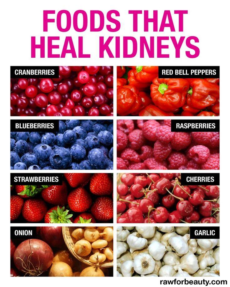 Alimentos que ayudan a sanar los riñones.