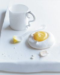 Meringues with Passion Fruit Curd