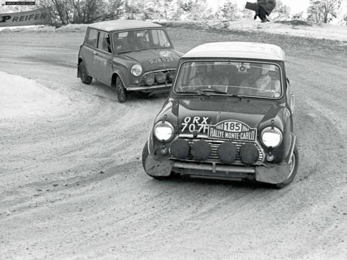 Mini Cooper S (1968)  At the Monte Carlo rally, where it feels more at home.