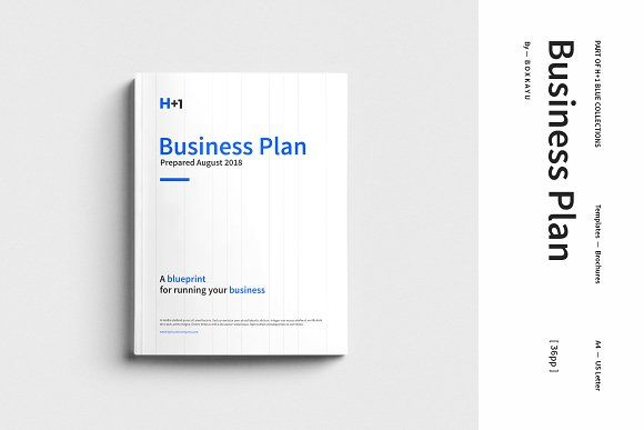 H+1 Business Plan  by BOXKAYU on @creativemarket