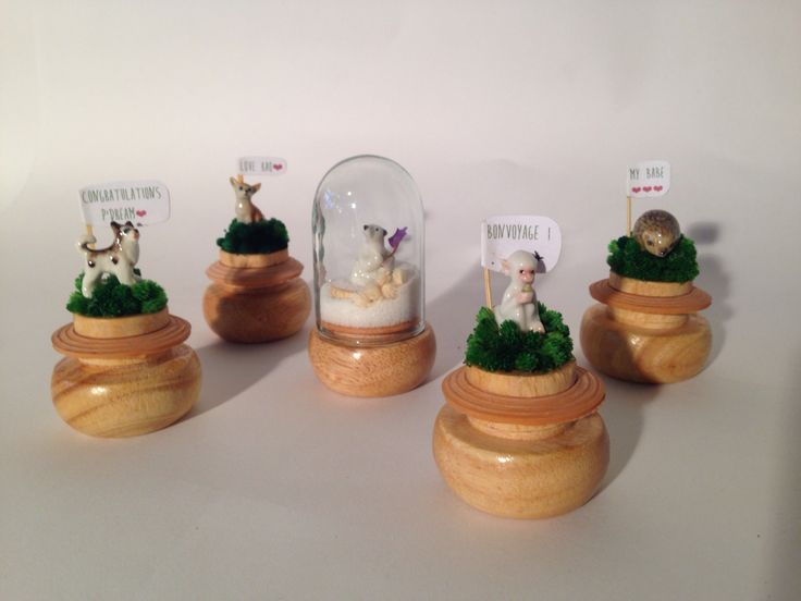 #animal#miniature#diy#ceramic#polarbear#chihuahua#husky#hedgehog#monkey#jar#decoration#wooden#holdmewithlove