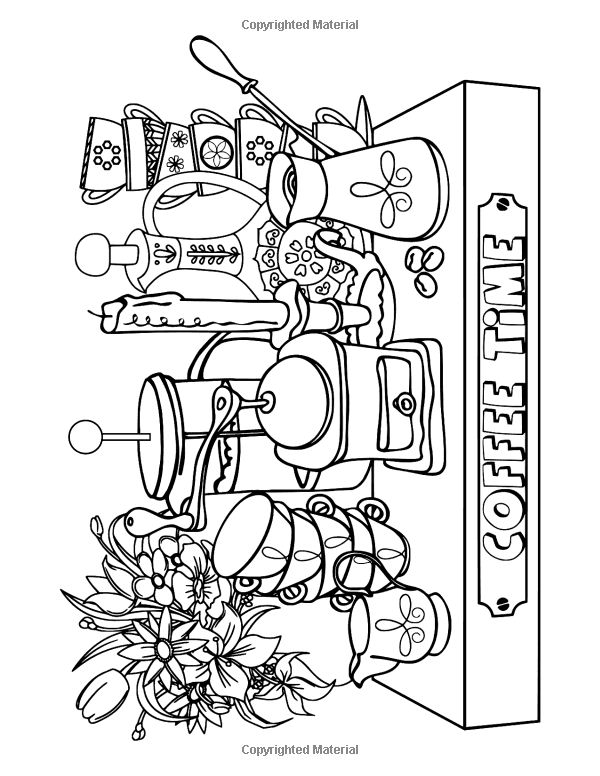 AmazonSmile Coffee Tea Sweets Adult Coloring Book Including 30 Recipes To