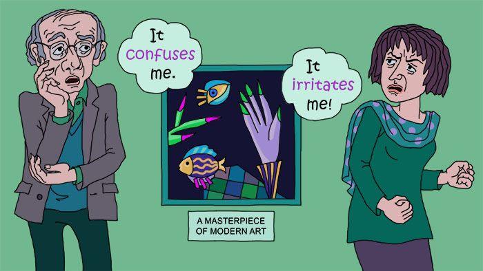 Verwirrt Englisch