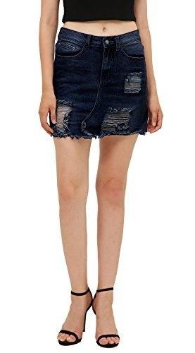 Minifalda vaquera #faldas #moda #mujer #outfits  #minifaldas #faldasinvierno #style #shopping #fashion #modafemenina #cuero #leather #minifaldadenim #minifaldavaquera #denim