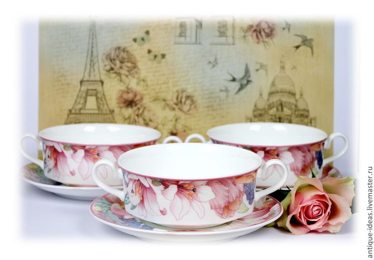Купить Бульонные чаши от Villeroy&Boch, серия Corolla - разноцветный, старина, старинный стиль, винтаж