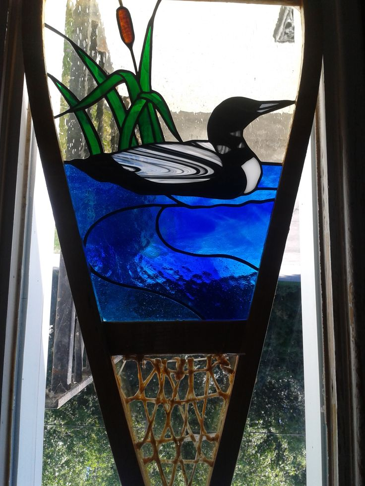 Stained Glass Loon Snowshoe