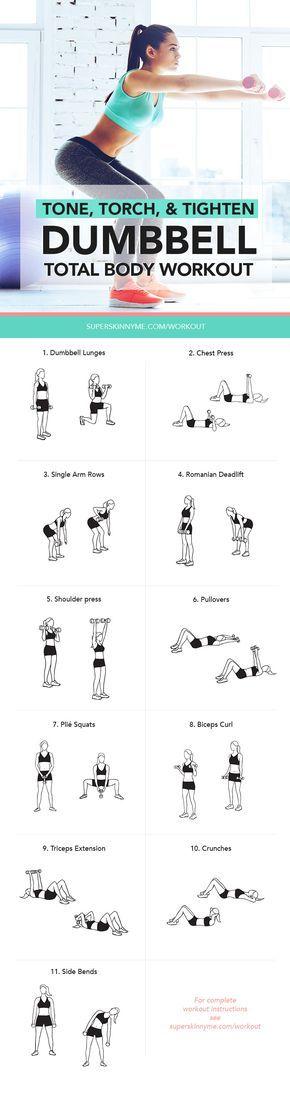 Tone, torch, & tighten Total Body Dumbbell Workout! #weightloss