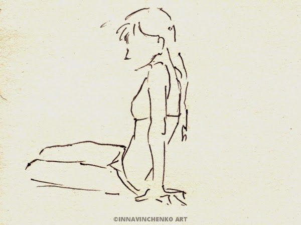On the beach series #sketch of a #girl http://vinchenko.blogspot.com/2014/08/when-started-my-love-for-sketching.html