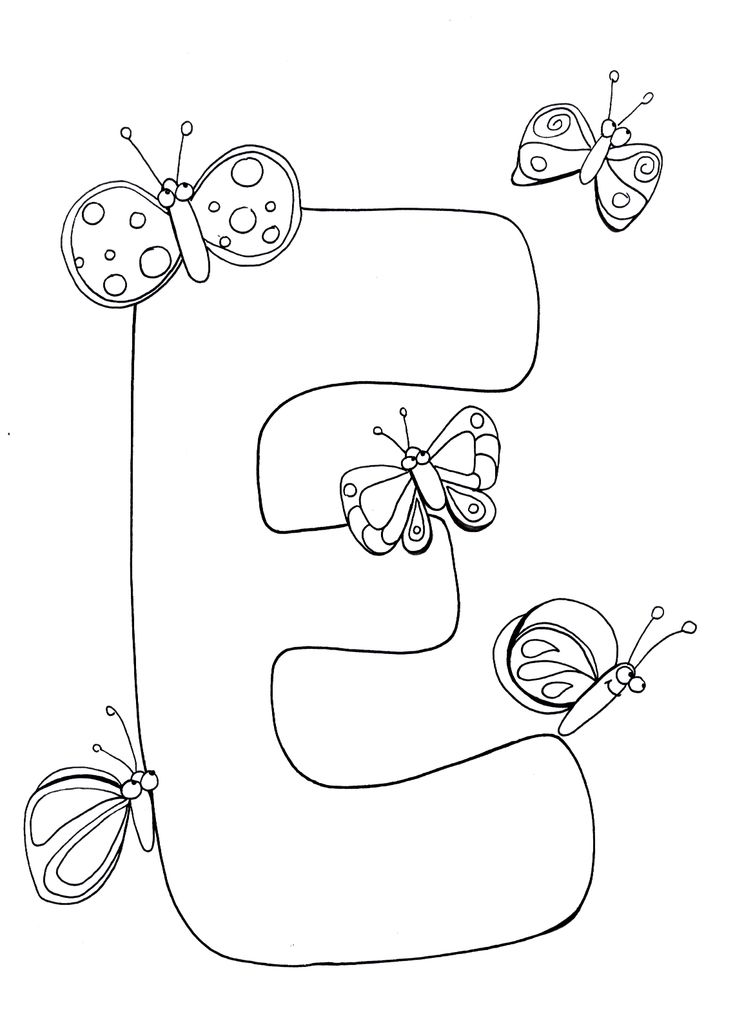 free online alphabet coloring pages | letter e coloring pages, printable letter e coloring pages ...
