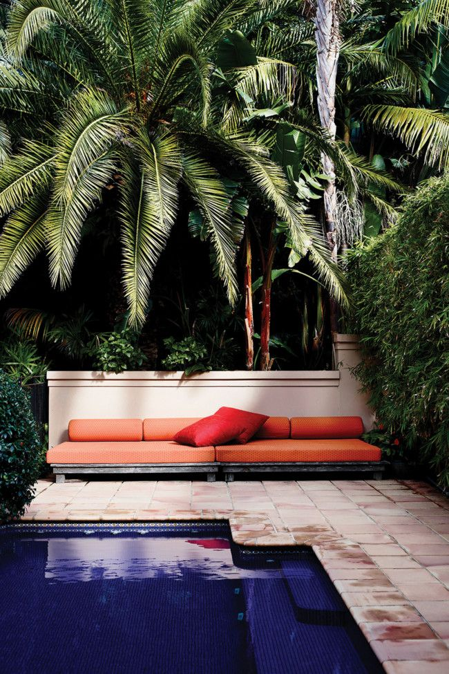 Outdoor relaxation: Pools Area, House Tours, Design Pamela, Dreamy Backyard, Interiors Design, Outdoor, Tropical Pools, Vogue Living, Pamela Makin