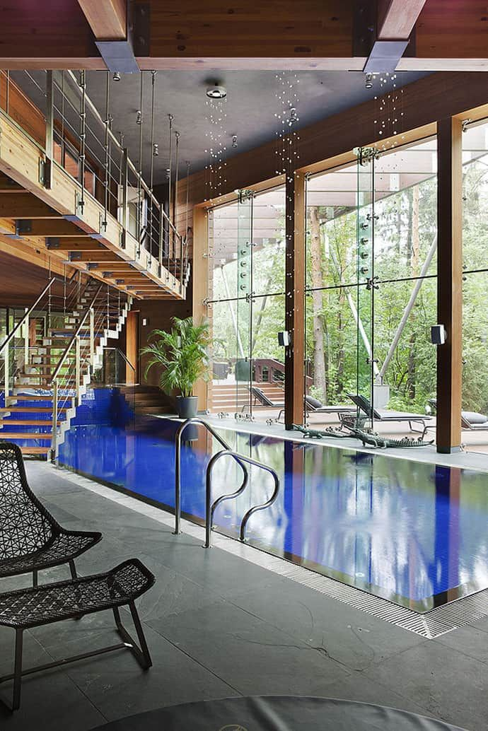 Contemporary Chic House with Indoor Pool, Russia by Olga FreymanDesignRulz2 December 2012Olga Freyman took a challenge to create an interior for a house which at that moment has looked like a boring concrete box. ... Architecture Check more at http://rusticnordic.com/contemporary-chic-house-with-indoor-pool-russia-by-olga-freyman/