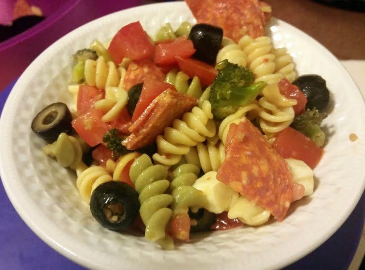 """Italian pasta salad! 5.00 stars, 1 reviews. """"I have this on hand every day when my niece is here visiting ....it's practically all she eats :-P"""" @allthecooks #recipe"""