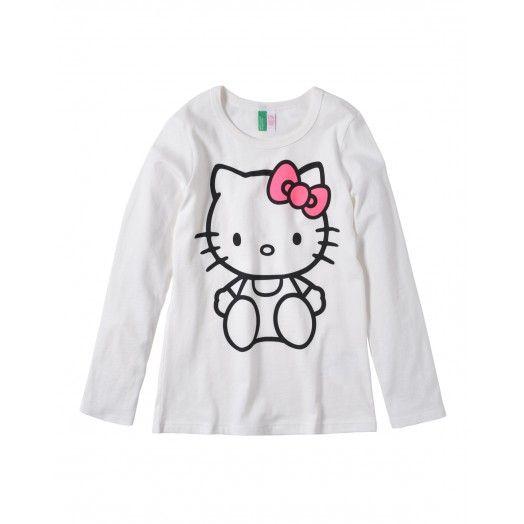 T-shirt maniche lunghe, girocollo, in morbido jersey di cotone con stampa sul davanti. 15,95