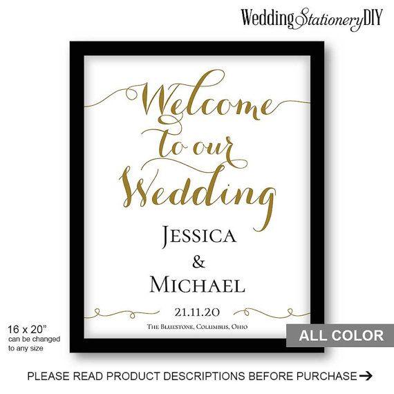 Welkom op onze bruiloft, afdrukbare bruiloft welkom teken sjabloon. Veranderen van kleur van de illustraties, tekst, grootte en print op te slaan.  PRODUCTBESCHRIJVINGEN: formaat nadat afgedrukt: 16 x 20 inch. Software vereist: Microsoftword 2010-hoger  HOE WERKT HET: 1. de aankoop van deze aanbieding. 2. uw betaling bevestigen. 3. de sjabloon downloadt.  ALLE BRUILOFT WELKOM TEKEN http://etsy.me/1SIkMOJ  ALLE TEKENEN VAN DE BRUILOFT: http://etsy.me/1ZN2bWG  OVEREENKOMENDE TEKEN EN KAARTEN…
