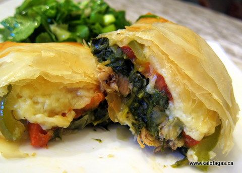 Lamb Exohiko (Lamb, Spinach And Cheese Stuffed Phyllo ...