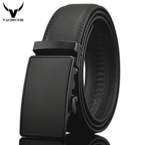 FuzWeb:Business Belts For Men Ceinture Luxury Genuine Leather Belt Buckle Wide Belt Jeans Men Pants Strap 130cm Q170 1 2
