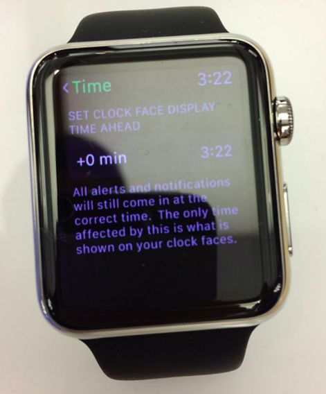 Apple Watch allows chronically late users to fool themselves with manually adjusted time