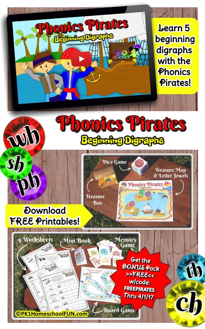 14 best free preschool printables images on pinterest preschool phonics pirates free bonus printables pack coupon code fandeluxe Images