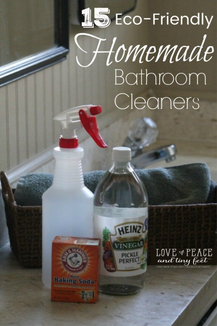 15 Eco Friendly Homemade Bathroom Cleaners And Tips Bathroom