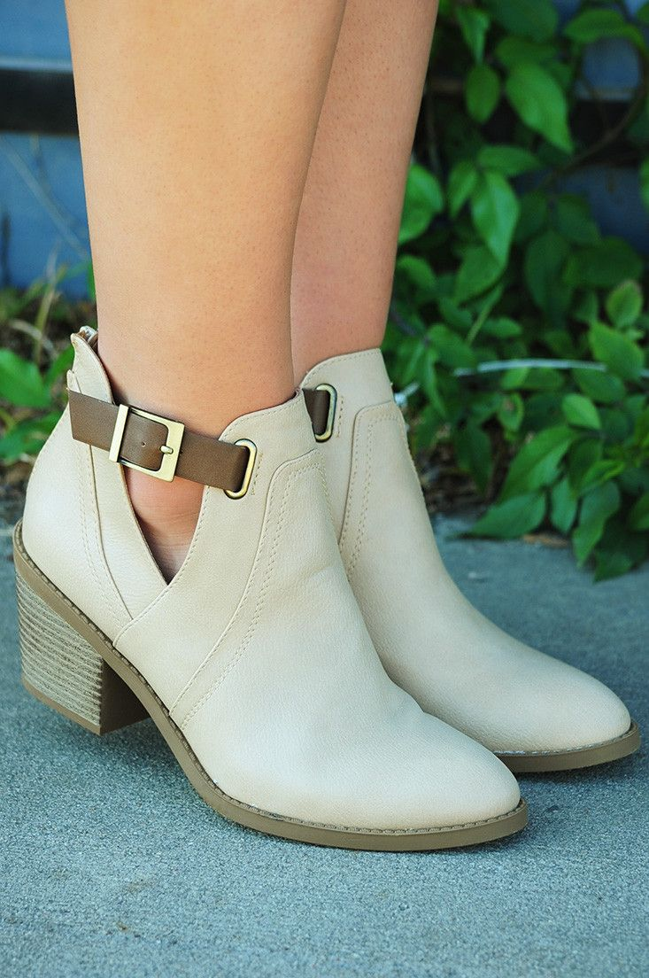 Block Party Booties: Ivory/Brown #shophopes