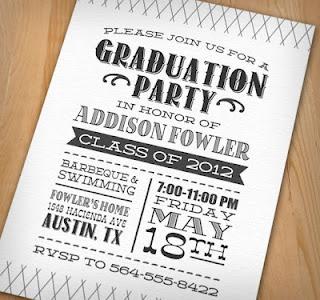 Cool graduation party invite