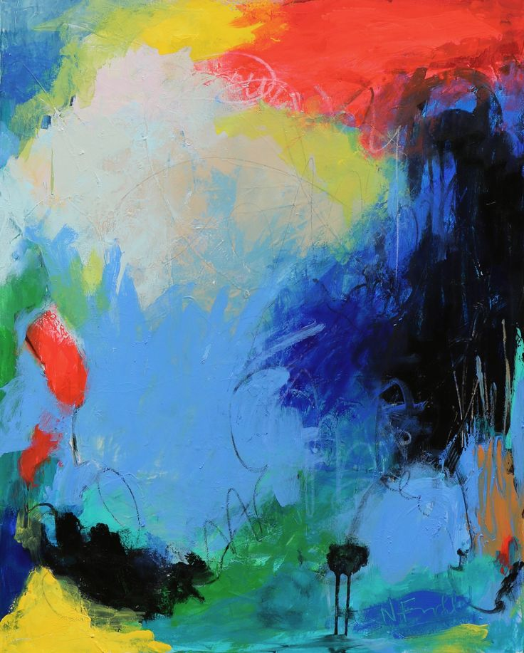 """""""Summer Storm"""" by Nicole Fearfield. Paintings for Sale. Bluethumb - Online Art Gallery"""