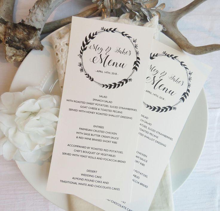 108 best { WEDDING MENUS } images on Pinterest Menu templates - wedding menu template