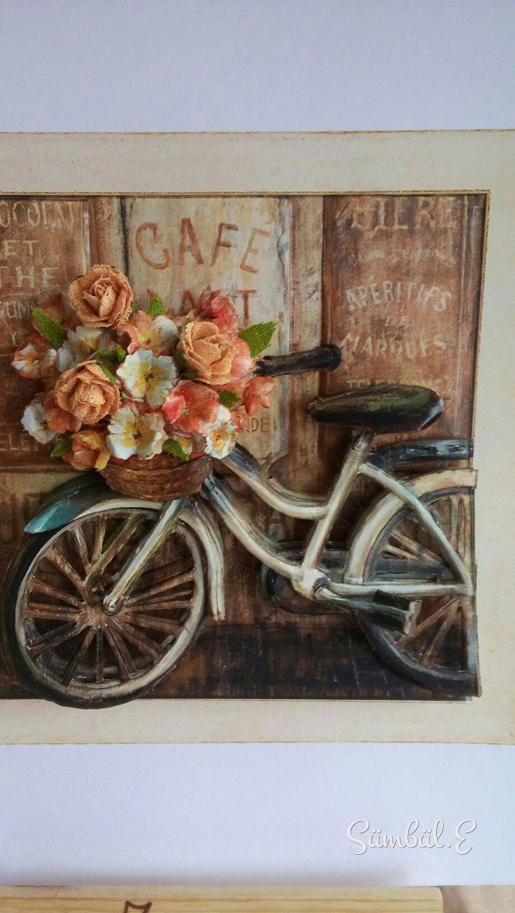 Zeynep'in kağıt rölyef bisikleti-SÜMBÜL ELDEK