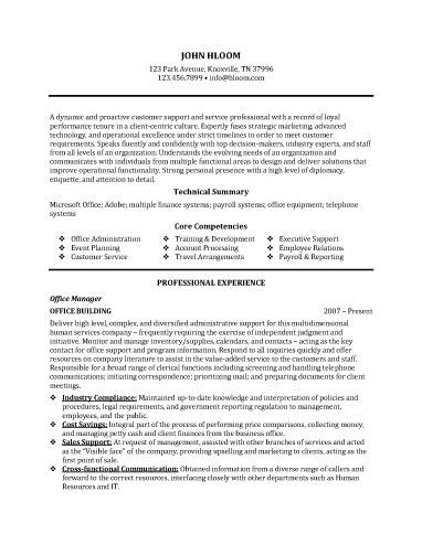 skills and competencies for resumes