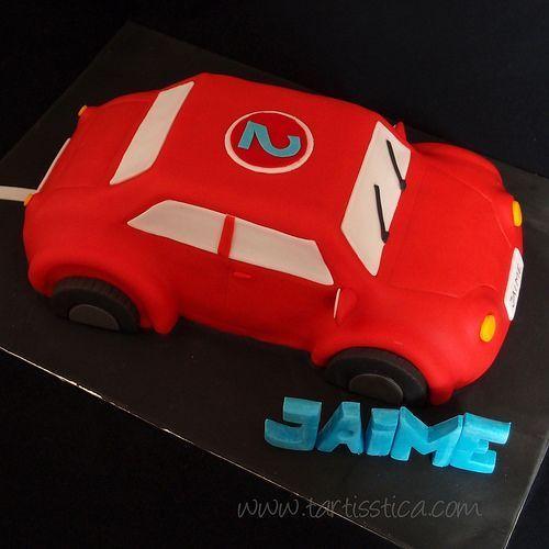 Tarta coche rojo – – #coche #rojo #Tarta