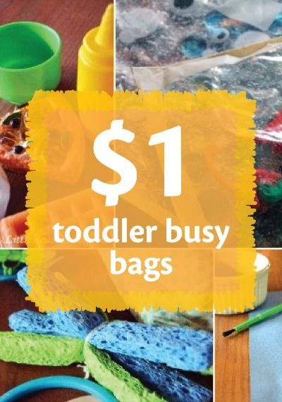 Keep toddlers busy AND safe with these busy bags you can make for under $1!