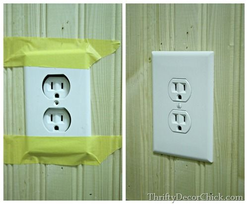 How to make an outlet flush with wall -- great to know when installing wood planks, beadboard or tile.