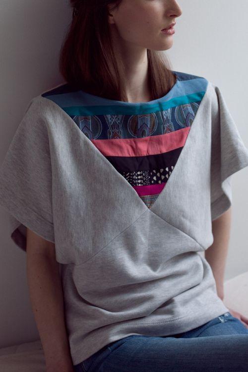 Kostenlose Nähanleitung: T-Shirt mit extravagantem Schnitt- Initiative Handarbeit