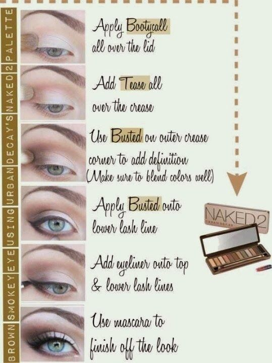 naked 2 pallet- step by step eyeshadow application by cass.davis.7