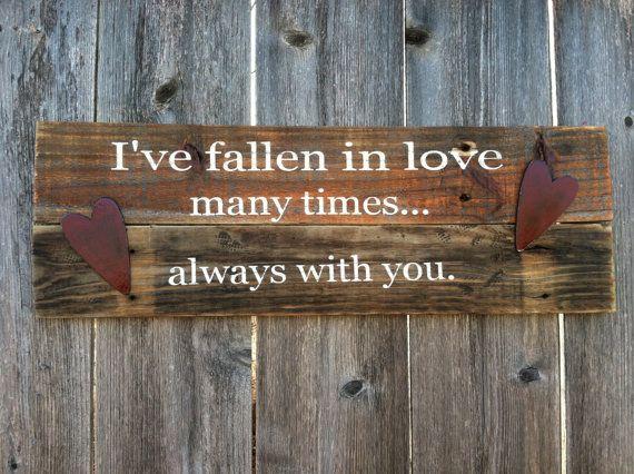 Valentine's Day Phrase Wooden Sign