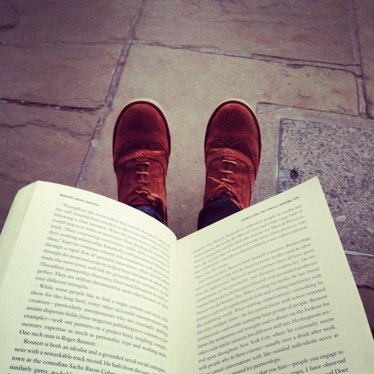 #shoesinsitu Suede Brogues with Book