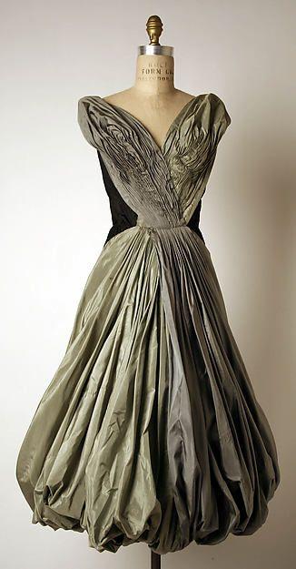 Evening dress   Madame Grès (Alix Barton)  (French, Paris 1903–1993 Var region) c. 1954 Culture:  Silk