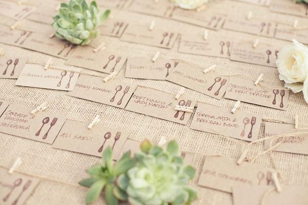 Cute table assignment cards
