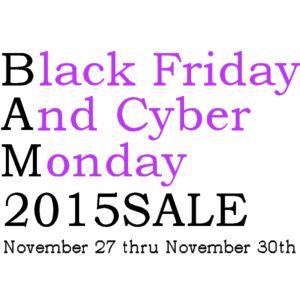 Black Friday And Cyber Monday BAM! Sale 2015