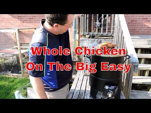 Doing a whole chicken in The Char Broil Big Easy is a snap!  It gives you a juicy bird with delicious, crispy skin. Check out the video for all the details!